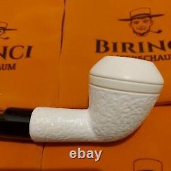 1A Large Block Meerschaum Pfeife pipe Akrylmunstück 9mm Meerschaumpfeife