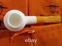 1A Medium Block Meerschaum Pfeife pipe Akrylmunstück 9mm Meerschaumpfeife