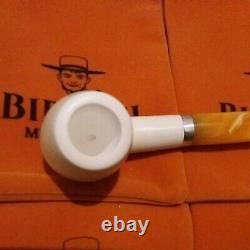 1A XL Block Meerschaum Pfeife pipe Akrylmunstück 9mm 925 Meerschaumpfeife