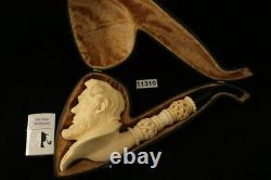 Abraham Lincoln Hand Block Meerschaum Pipe by Kenan with CASE 11310