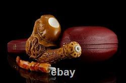 Arabic Merchant Figure Pipe New Block Meerschaum Handmade W Case#972