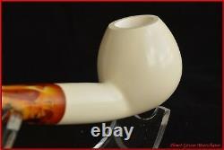 BENT APPLE Block Meerschaum Smoking Tobacco Pipe Pipa Pfeife With CASE AGV-C226