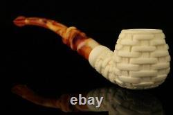 Basket Block Meerschaum Pipe with custom CASE 11929