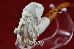 Bearded Man Smoking, Old Man Smoking Pipe, Unsmoked Pipe, Block Meerschaum