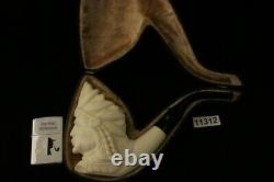 Big Chief Hand Carved Block Meerschaum Pipe with custom CASE 11312