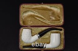 Billiard Bent Set Of 2 Pipes Block Meerschaum New Handmade W Case#836