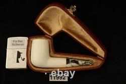 Billiard Nosewarmer Block Meerschaum Pipe with custom CASE 11992