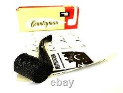 Black Beauty! Unsmoked! African Block Meerschaum Rustic Bent Poker Estate Pipe