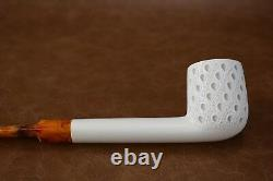 CANADIAN PIPE BLOCK MEERSCHAUM-NEW-HAND CARVED tamper+stand#288 W Case