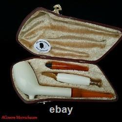 CUTTY Block Meerschaum Pipe, Turkish Smoking Estate Tobacco Pipe, Pipa AGM513