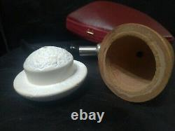 Calabash Pipe & Block Meerschaum Bowl & Silver Spigot System Large Size #055