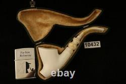 Cavalier Self Sitter Block Meerschaum Pipe with CASE 10432