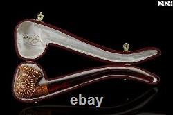 Churchwarden Lattice Calabash Pipe New Block Meerschaum Handmade W Case#1127