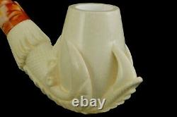Claw Holds Egg Pipe Block Meerschaum-NEW Handmade With Case#706