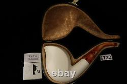 Cobra Smooth Hand Carved Block Meerschaum Pipe in a fitted CASE 6732