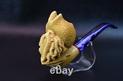 DAVY JONES Pipe By KENAN Block Meerschaum-NEW Handmade From Turkey W CASE&1023