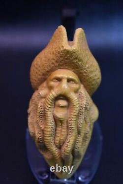 DAVY JONES Pipe By KENAN Block Meerschaum-NEW Handmade From Turkey W CASE#292