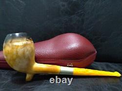 Deluxe Calcined Cutty Meerschaum Pipe Handcarved from block meerschaum #1