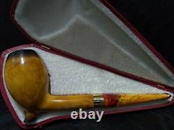 Deluxe Calcined Cutty Meerschaum Pipe Handcarved from block meerschaum #2