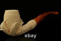 Deluxe Embossed Eagle's Claw Block Meerschaum Pipe with case 12723