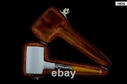 Deluxe Poker CUTTY Pipe BLOCK MEERSCHAUM-NEW-HAND CARVED W Case#1190