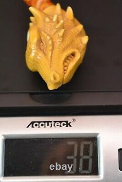 Dinosaur Figure Pipe Handmade Block Meerschaum-NEW W CASE#42