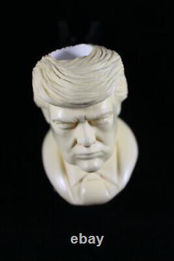 Donald Trump Pipe, The Best Block Meerschaum, Unsmoked Meerschaum, Smoking Pipe