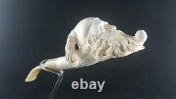 Dunhill meerschaum pipe, Hand carved pipe, Turkish block meerschaum
