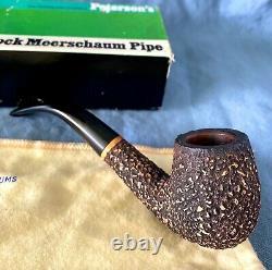 EPIC Peterson's RED Block Meerschaum 69 Irish Estate Pipe FISHTAIL Box Bag Paper