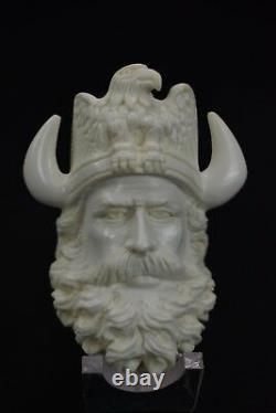 ERDOGAN ege Viking Pipe New Block Meerschaum W Case#392