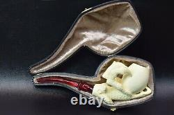 Eagle Claw Pipe By ALI-new-block Meerschaum Handmade W Case#1107