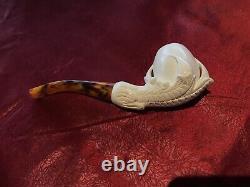 Eagle Claw Style Turkish Block Meerschaum Pipe By Turmeermar