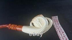 Eagle Claw meerschaum pipe, smoking pipe, hand carved pipe, block meerschaum
