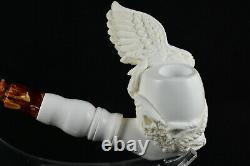 Eagle Meerschaum Pipe, Block Meerschaum, Unsmoked Pipe