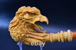 Eagle PIPE BY SADIK YANIK BLOCK MEERSCHAUM-NEW-HAND CARVED-FROM TURKEY#1147