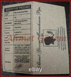 FULL BENT Block Meerschaum Smoking Tobacco Pipe Pipa Pfeife With CASE AGV-1753