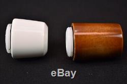 Falcon Pipe Set Of 3 Bowls Block Meerschaum New Handmade W Case#1024