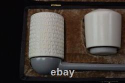 Falcon Pipe Set Of 3 Bowls Block Meerschaum New Handmade W Case#970