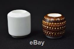 Falcon Pipe Set Of 3 Bowls Block Meerschaum New Handmade W Case#978