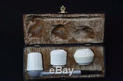 Falcon Pipe Set Of 3 Bowls Block Meerschaum New Handmade W Case#984
