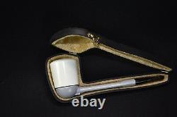 Falcon Pipe W Billiard Bowl Block Meerschaum New Handmade W Case#560
