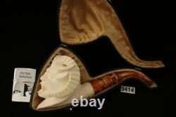 Faun Block Meerschaum Pipe Hand Carved by I. Baglan in a case 9414