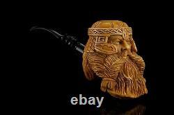 GIMLI Viking Pipe BY KENAN Block Meerschaum-handmade NEW W CASE#183