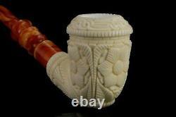 H ege Ornate Topkapi Calabash Pipe New-block Meerschaum Handmade W Case#1507