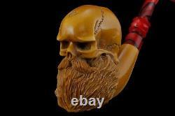 Halloween Skull Pipe By Kenan-new-block Meerschaum Handmade W Case#566