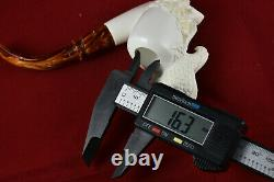 Hand Carved Eagle Figure, Unsmoked Pipe, Block Meerschaum