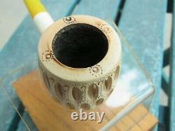 Handmade Block Meerschaum Pipe by Andreas Bauer Intricately Carved