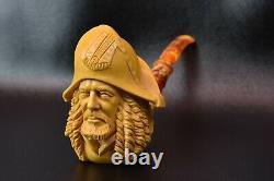 Hector Barbossa Pirate Pipe By Kenan Block Meerschaum-NEW Handmade W CASE#517