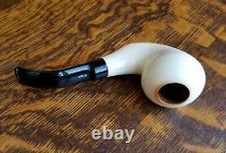 IMP Turkish Block Meerschaum Pipe CLEAN Lightly Smoked #53