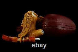 Indian Tribe Witch Figure Pipe By Ali Block Meerschaum NEW Handmade With Case#63